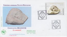 Enveloppe   FDC  1er  Jour   ROUMANIE    Emission  Commune  Avec   La   FRANCE   2006 - FDC