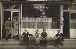 CARTE PHOTO  CAFE RESTAURANT  E Salles Telephone Billard à Situer RV - Photographs