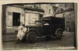 CARTE PHOTO CHARCUTERIE  FERME LE MERCREDI  Belle Voiture De Livraison  à Situer RV - Photographs