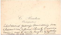 Visitekaartje - Carte Visite - Onderpastoor C. Baeten - Moerzeke - Cartes De Visite