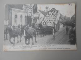 BELGIQUE ANVERS PUTTE FEUWFEEST,EUGEEN DE PRETER, 2 JULI 1914 PRAALSTOET MAAGDEKENSWAGEN - Putte