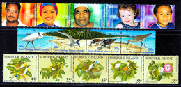 COCOS ISL &NORFOLK  STRIPS  MNH - Cocos (Keeling) Islands