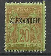ALEXANDRIE N° 10 NEUF* TRACE DE CHARNIERE TB / MH - Alexandria (1899-1931)