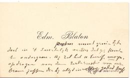 Visitekaartje - Carte Visite - Pastoor Edm. Blaton - Rupelmonde - Cartes De Visite