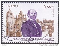 Oblitération Moderne Sur Timbre De France N° 4842 - Alexandre Glais-Bizoin, Cathédrale St Etienne à St Brieuc + Pont - France