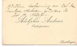 Visitekaartje - Carte Visite - Onderpastoor Adelphie Andries - Zandbergen - Cartes De Visite