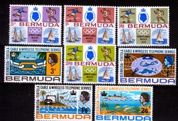 BERMUDA  2  X  SETS    MNH            SHIPS        OLYMPIC GAMES - Bermudes