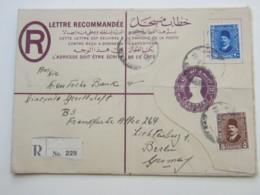 1935 , Einschreiben Nach Deutschland , Ganzsache , Faltspuren - Lettres & Documents