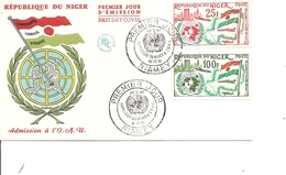 Niger - Drapeaux - ONU ( FDC De 1961 à Voir) - Niger (1960-...)
