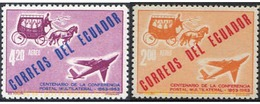 Ref. 222359 * MNH * - ECUADOR. 1963. CENTENARY OF THE MULTILATERAL POSTAL COMFERENCE . CENTENARIO DE LA  COMFERENCIA POS - Equateur