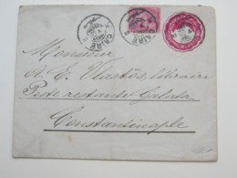 1900 , Ganzsache Aus Kairo Nach Konstantinopel - Égypte