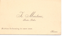 Visitekaartje - Carte Visite - Pastoor Deken - Is. Martens - Hamme - Cartes De Visite
