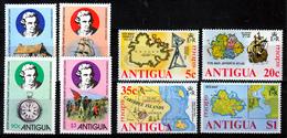 ANTIGUA  2  X  SETS   MNH            SHIPS   JAMES COOK   MAPS - Antigua Et Barbuda (1981-...)