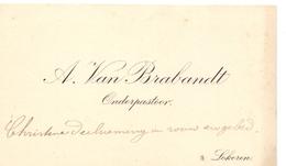 Visitekaartje - Carte Visite - Onderpastoor A. Van Brabandt - Lokeren - Cartes De Visite