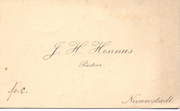Visitekaartje - Carte Visite - Pastoor J.H. Hennus - Nieuwstadt - Cartes De Visite
