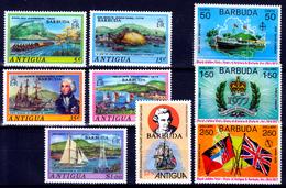 BARBUDA  2  X  SETS   MNH            SHIPS   JAMES COOK - Antigua Et Barbuda (1981-...)