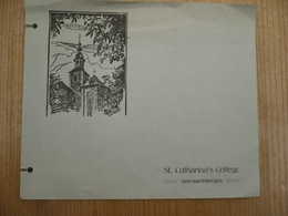 Geeraardsbergen 1936 St Catharina's College Feest Uitnodiging - Programmi