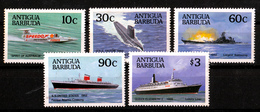 BARBUDA   SET   MNH            SHIPS - Antigua Et Barbuda (1981-...)