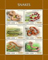Sierra Leone 2018 Snakes Fauna  S201811 - Sierra Leone (1961-...)