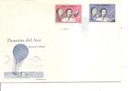 Cuba - Pionniers De L'air - Ballons ( FDC De 1963 à Voir) - FDC
