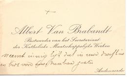 Visitekaartje - Carte Visite - Albert Van Brabandt - Oudenaarde - Cartes De Visite