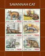 Sierra Leone 2018 Savannah Cats Fauna  S201811 - Sierra Leone (1961-...)