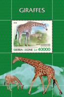 Sierra Leone 2018 Giraffes Fauna  S201811 - Sierra Leone (1961-...)