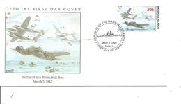 Guerre 40/45 - Bataille De La Mer De Bismarck - Avions De Combat ( FDC Des Marshall De 1993 à Voir) - Guerre Mondiale (Seconde)