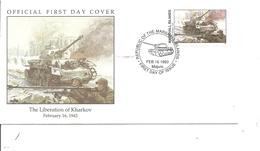 Guerre 40/45 - Libération De Kharkov - Chars -Tanks ( FDC Des Marshall De 1993 à Voir) - Guerre Mondiale (Seconde)