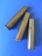 LOT 3 ETUIS / DOUILLES / CARTOUCHES 11 MM GRAS / ORIGINALES Datées 1883 Ou 1884 - Armes Neutralisées