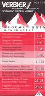Ancienne Brochure D'information Sur Verbier, Le Chable, Bruson, Fionnay, (Valais, Suisse) - 32 Pages, 1993/94 - Livres, BD, Revues