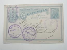1895 , Tarjeta Postal ,  Agenzia Ambulante - Guatemala