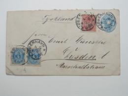 1894 , Ganzsache  Nach Deutschland - Briefe U. Dokumente