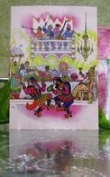 """Russian Folk Tale """"By Pike Magic""""/ Feast Skomorokhs Dances Art Modern Russian Postcard By Kochergin - Fairy Tales, Popular Stories & Legends"""