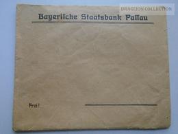 ZA143.26 Germany  - Envelope -Cover -Bayerische Staatsbank PASSAU - Advertising