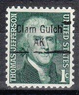 USA Precancel Vorausentwertung Preo, Locals Alaska, Clam Gulch 843 - Vereinigte Staaten