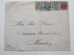1901 , Brief Nach Hamburg - 1864-04 (Christian IX)