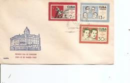 Cuba  ( FDC De 1963 à Voir) - FDC