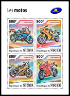 NIGER 2018 **MNH Motorcycles Mororräder Motos M/S - OFFICIAL ISSUE - DH1849 - Motorbikes