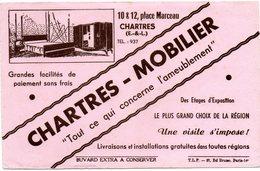 Buvard Chartres-Mobilier. Années 50. - Carte Assorbenti