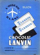 Protège Cahier. Chocolat Lanvin. - Protège-cahiers