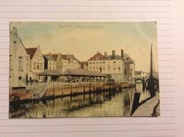 +postkaart, Mechelen Vismarkt, Gelopen 1906, Zegel 1 Cent Nr, 53 - Malines