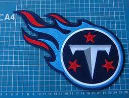 """TENNESSEE TITANS FOOTBALL NFL SUPERBOWL 10"""" HUGE LOGO PATCH EMBROIDERED JERSEY - Tennessee Titans"""