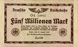 Notgeld Reichsbahn 5 Millionen Mark  1923 - [ 3] 1918-1933 : Repubblica  Di Weimar