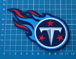 """TENNESSEE TITANS FOOTBALL NFL SUPERBOWL 4.5"""" HUGE LOGO PATCH EMBROIDERED JERSEY - Tennessee Titans"""