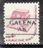 USA Precancel Vorausentwertung Preo, Locals Alaska, Galena 872 - Etats-Unis
