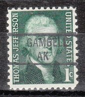 USA Precancel Vorausentwertung Preo, Locals Alaska, Gambell 841 (MB/AK) - Vereinigte Staaten