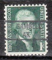 USA Precancel Vorausentwertung Preo, Locals Alaska, Gambell 841 (MB/AK) - Etats-Unis
