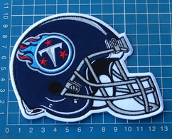 TENNESSEE TITANS FOOTBALL NFL SUPERBOWL HELMET LOGO PATCH EMBROIDERED JERSEY - Tennessee Titans