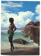 Seychelles - Beach Scene Mahe, Naked Girl - Seychelles